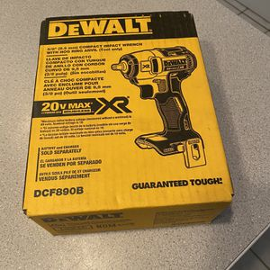 Dewalt XR 3/8 Impact Wrench With Hog Ring Anvil (tool Only for Sale in Lombard, IL