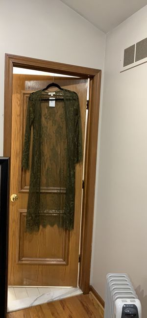 Lace olive cardigan for Sale in Sterling Heights, MI