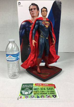 Superman 16th scale Icon statue Superman figure DC collectibles Avengers Spiderman Superman Captain America Black Panther hulk wonder woman and Batm for Sale in La Habra Heights, CA