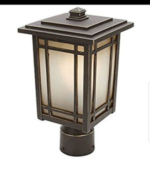 Set of 2 Home Decorators Collection Port Oxford 1-light Outdoor Oil Rubbed Chestnut Post Mount Lantern for Sale in Houston, TX