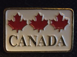 3 Maple leaf, CANADA lapel pin for Sale in Chino, CA