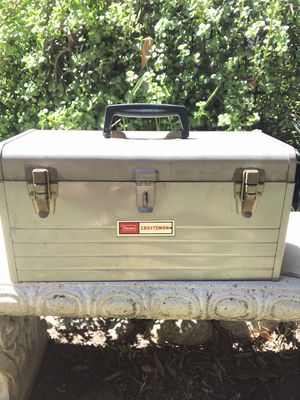 Vintage Grey Craftsman Tool Box W/ Red Tray for Sale in Irwindale, CA