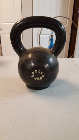 44 lb high end Apollo kettlebell with rubber base for Sale in Santa Clarita, CA