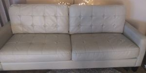 Leather couch and oversized chair for Sale in Derby, KS