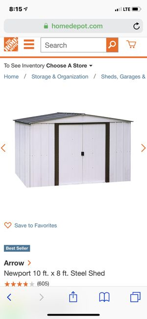 Arrow shed storage 10x8 For Sale for Sale in San Jose, CA