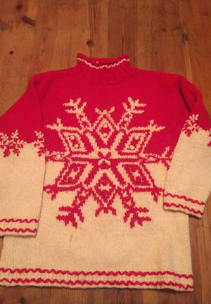Christmas Red & White Wool Sweater for Sale in Los Angeles, CA
