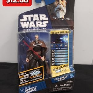 Count Dooku CW06 Figure Star Wars The Clone Wars 2010 Hasbro New on Card for Sale in Alameda, CA