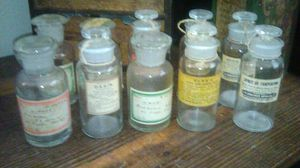 Antique Apothecary Bottles 10 for Sale in Long Beach, CA