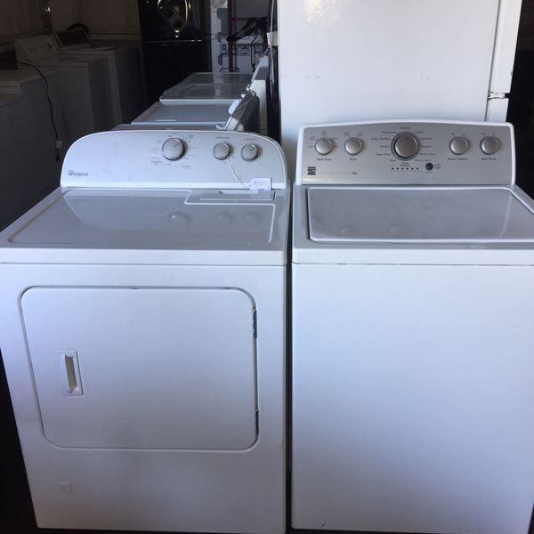 Kenmore top load washer and whirlpool gas dryer
