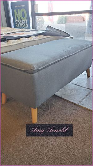 Grey Linen Storage Bench for Sale in Glendale, AZ