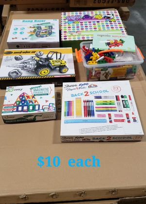 Brand new in box kids toys games Christmas gift ideas puzzles blankets school supplies educational toys for Sale in Whittier, CA