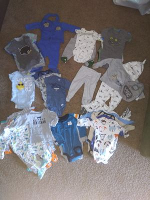Baby boy clothes 0-3 months for Sale in Washington Township, NJ