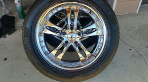"""Wheels and tires 18"""" 5 lug for Sale in Riverside, CA"""