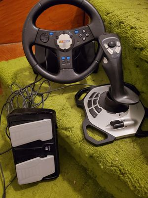 Nascar logitech steering wheel, shift and pedal ps2 for Sale in Peabody, MA