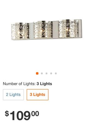 New Bathroom Vanity lights 4 Available $30 each for Sale in Tolleson, AZ