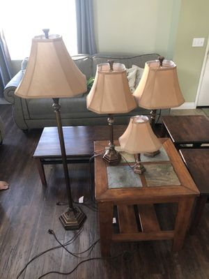 4 piece lamp set. All working, with LED bulbs. for Sale in Murrieta, CA