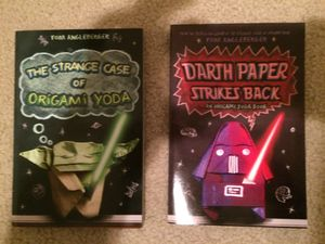 Darth paper and origami yoda chapter books for Sale in Olympia, WA