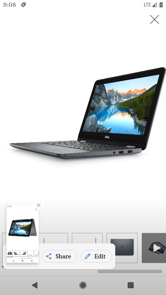 """New Dell 11"""" Inspiron 2 In 1 3000 Series Touch Screen Laptop"""