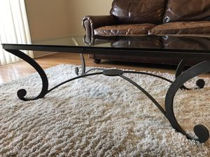 "Metal and Glass coffee table. 4'4"" long by 32"" wide. Pretty much like new. Very nice for Sale in Redondo Beach, CA"