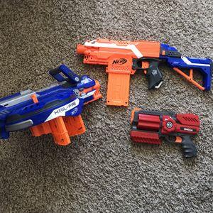 Nerf Gun set of 3 for Sale in Littleton, CO