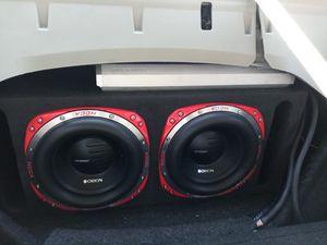 "Orion hcca 10"" little Monster subs in ported custom box for Sale in Las Vegas, NV"