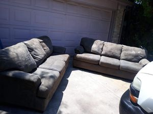 Green 2 sets of couches for Sale in San Antonio, TX