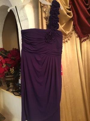 Prom dress is new size 8 color dark purple for Sale in San Diego, CA
