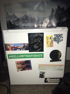 Mini Fridge (w/ stickers on it) for Sale in Tacoma, WA