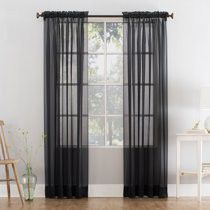 2 Panel Sheer Black Curtains for Sale in Bellevue, WA