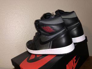 "Nike air Jordan 1 retro high og "" black satin gym red"" for Sale in Ciudad Juárez, MX"