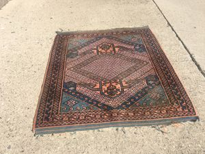 Red & blue Persian rug Hand knotted for Sale in Whittier, CA