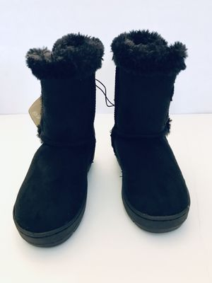 Girl's Cozy Boots - Black - Girl's Shoes - Size 9/10 - Lily & Dan for Sale in Grand Island, FL