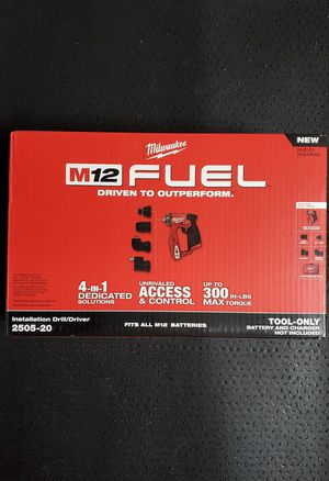 MILWAUKEE M12 FUEL 12-Volt BRUSHLESS 4-in-1 INSTALLATION DRILL DRIVER W/ 4 TOOL HEADS [DESATORNILLADOR] for Sale in San Diego, CA