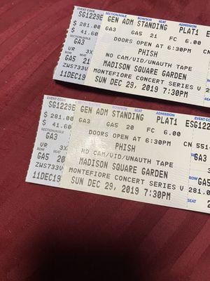 Phish GA floor 12/29 2 tickets for Sale in Hoboken, NJ
