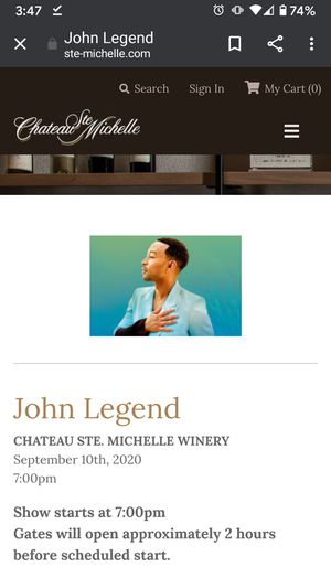 John Legend @ Chateau St. Michelle for Sale in Tacoma, WA