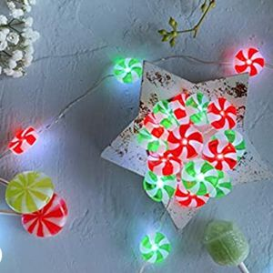 Candy Swirl String Lights, Christmas Decoration String Lights 40 LEDs 10ft Battery Operated with 12-Modes Remote Control for Christmas, Indoor Outdoor for Sale in La Habra, CA