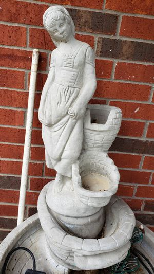 Concrete fountain with statue for Sale in Mansfield, TX