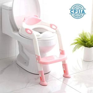 Brand New) Potty Training Seat Toddler Toilet Seat with Step Stool Ladder,Potty Training Toilet-Comfortable Safe,with Anti-Slip Pads Ladder (Pink) for Sale in Duluth, GA