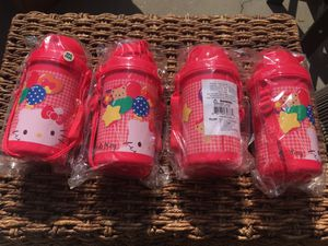 Hello kitty drink silly cup with straw and scarring strap for Sale in  Temple City 33b02ac7aa20f