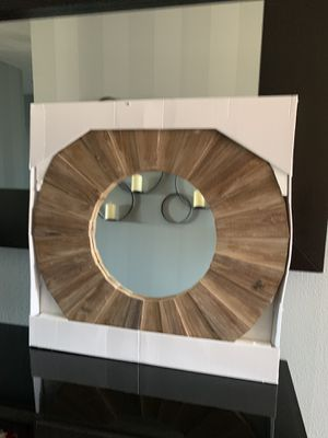 """Wooden wall art mirror !!! 30"""" D for Sale in Vancouver, WA"""