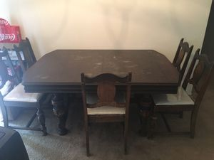Antique table and chairs for Sale in Oceanside, CA