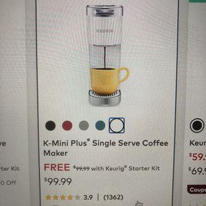 K-Mini Plus Single Serve Keurig Coffee Maker for Sale in Hummelstown, PA