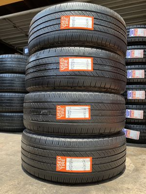 We sell a full set Of four Used tires 205/55R16 Michelin primacy for Sale in Beaumont, CA