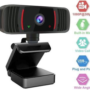 Webcam with Microphone for Desktop, 1080P HD Web Cameras for Computers with Plug and Play USB, Camera and Microphone for Zoom/Video Calling Recording/ for Sale in Pomona, CA
