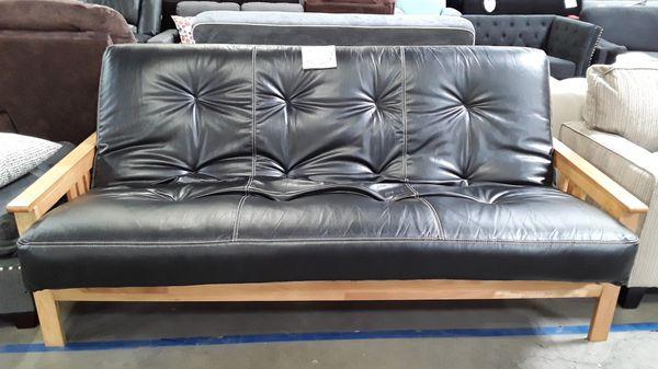 "NEW Kodiak / ""Monterey"" Butternut Indoor/Outdoor (Patio) Futon (w/ Faux Leather ""Full"" Mattress)"