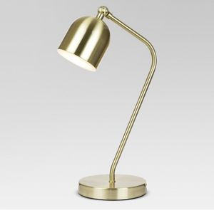 Gold desk lamp for Sale in New York, NY