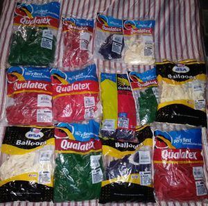 Qualatex balloons 25 bags colors vary for Sale in Hamtramck, MI