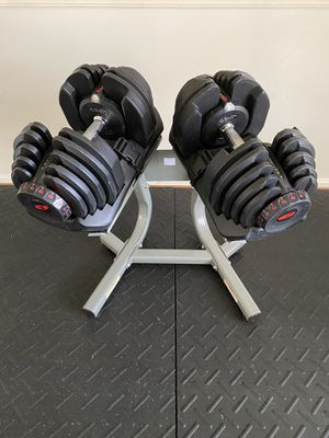 Bowflex SelectTech 1090 Adjustable Dumbells with Stand for Sale in Burke, VA