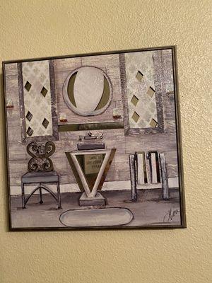 Grey bathroom wall decor and grey bathroom set for Sale in Midland, TX