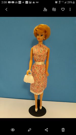 VINTAGE CLONE BARBIE PINK FLORAL PATTERN DRESS 1960'S $12- FIRM*PRICE IS FINAL* for Sale in Bakersfield, CA